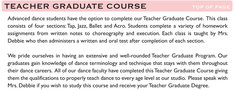 Teacher Graduate Course